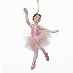 "5.25"" Resin Ballerina Girl Ornament"