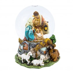 Image of 100Mm Holy Family Mscl Waterglobe