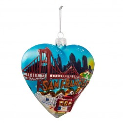 "Image of 4""San Francisco Heart Cityscape Orn"