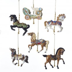 """Image of 4.5""""Carousel Horses/Chariot Orns 6A"""