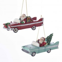 "Image of 4.25""Mid Century Santa Retro Car 2A"