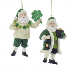 "Image of 4""Resin Irish Santa Orn 2/Asstd"