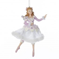 "5.5"" Sugar Plum Clara Holding Nutcracker Ornament"