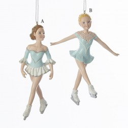 "5"" Icy Blue Ice Skating Girl Ornament"