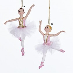 "4.75"" Resin Ballerina Ornament"