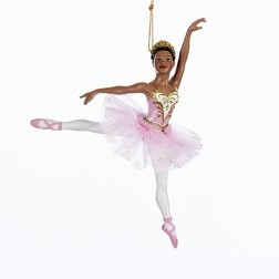 """Image of 6.25"""" African American Ballerina Ornament"""