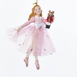 "Image of 5""Resin Pink Clara Orn"