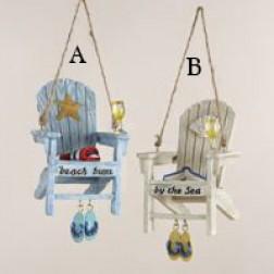 """2.75"""" Resin Beach Chair Ornament"""