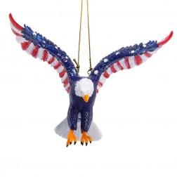 "Image of 5""Resin Stars & Stripes Eagle Orn"