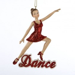 "4.5"" Resin ""Dance"" Girl Ornament"