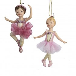 "4.25"" Resin Ballet Girl Ornament"