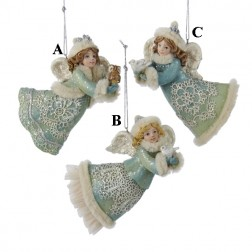 "4"" Winter Whispers Angel Ornament"