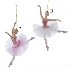 "6.75"" Resin Pink Ballerina Ornament"