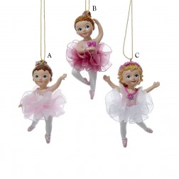 "3.75"" Resin Ballerina Girl Ornament"