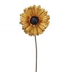 "Image of 14""Gold Sunflower W/Glitter"