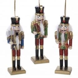 "Image of 6""Wooden Nutcracker Orn 3/Asstd"