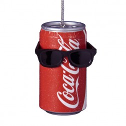 Coca-Cola Can with Sunglasses Decorative Christmas Ornament