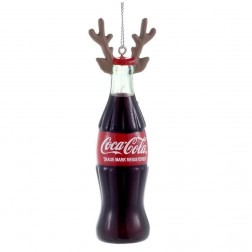 "4.5"" Coca-Cola bottle With Antlers Ornament"