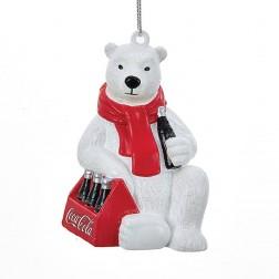 "Image of 3.5""Coca-Cola Polar Bear 6-Pack Orn"