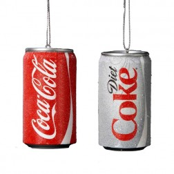 Coca Cola Can Classic or Diet Blow Christmas Ornament