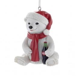 """3"""" Resin Coca-Cola Bear Cub Ornament"""