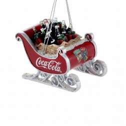 Image of Resin Coca-Cola Sleigh Orn