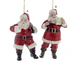 "4.75"" Coca-Cola Santa Ornament"