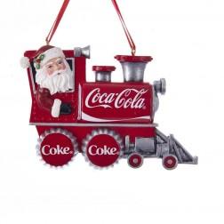"Image of 2.5""Resin Santa Coke Train Orn"