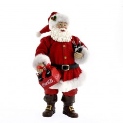 "9"" Coca-Cola Santa with Six Pack Tablepiece"