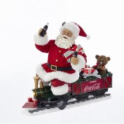 "Image of 13"" Coke Santa Train with LED Light"