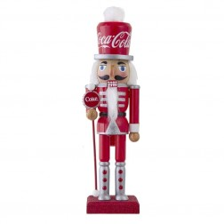 "Image of 10""Wooden Coca-Cola Nutcracker"