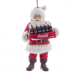 "Image of 5.75""Santa Holding Case Of Coke Orn"