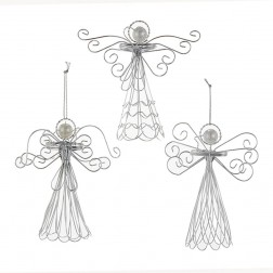 "Image of 4.7""Wire Angel Hanging Orn 3/Asstd"
