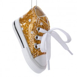 Tween Christmas Trendy Glitter High-Top Sneaker Christmas Ornament