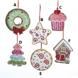 3.4 Inch Claydough Gingersnap Cookie Ornament