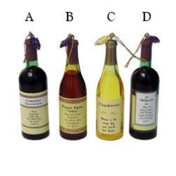 Acrylic Wine Bottle Ornament
