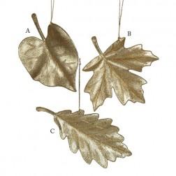 Gold Acrylic Leaf Ornament