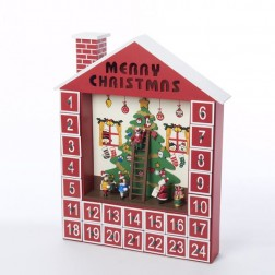 15 Inch Wooden Advent Calendar House