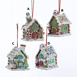 "3.5"" Claydough Gingerbread LED House Ornament"