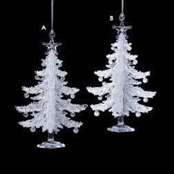 Image of Acrylic White Tree Ornament