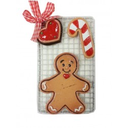Gingerbread Man on Tray Family Ornament