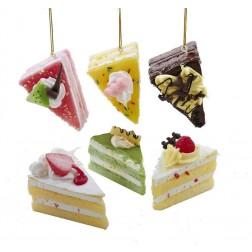 Image of Foam Slice Of Cake Orn 8/Asstd