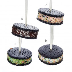 "3.15"" Ice Cream Sandwich Ornament"