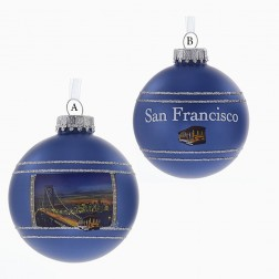 80mm Blue San Francisco Glass Ball