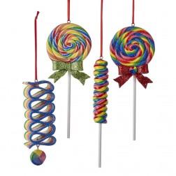 """Image of 6.5""""Claydough Glttr Lollipop Orn 4A"""