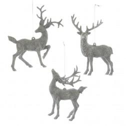 "Image of 5.5-5.9""Plstc Silv Gltr Deer Orn 3A"