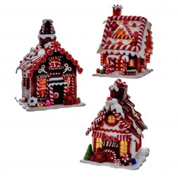 """Image of 8""""B/O Claydgh Gingrbrd Led House 3A"""
