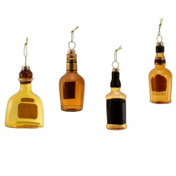 "Image of 3.5""Glass Liquor Bottle Orn 4/Asstd"