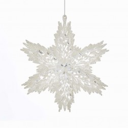 "Image of 6""Acrylic White/Clear Snowflake Orn"