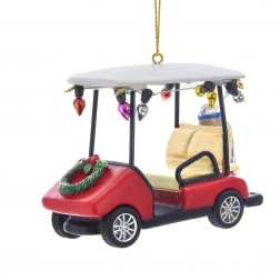 "Image of 3.5""Resin Golf Cart W/Wreath Orn"